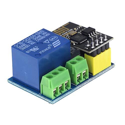 Fangfeen ESP8266 ESP-01S 5V WiFi Módulo de relé Cosas WiFi...