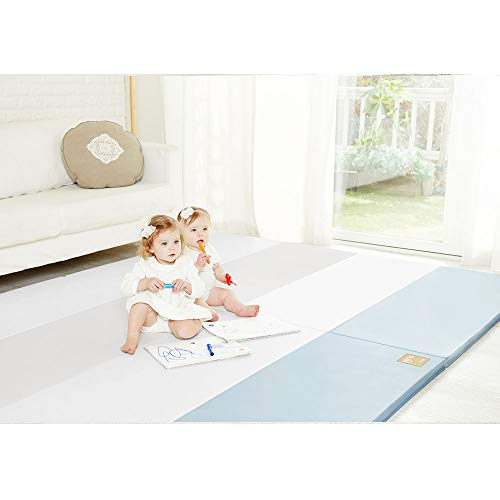 Lowest Price! [Alzip Mat] Baby Playmat - Eco Silon Duo (Non-Toxic, Non-Slip, Waterproof) (Sky Blue, ...