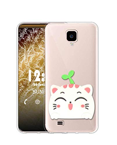 Sunrive Cover per Samsung Galaxy S4, Custodia 3D Case in Molle Trasparente Silicone Morbida Flessibile AntiGraffio Protettiva Back custodie(A1 Gatto 2)
