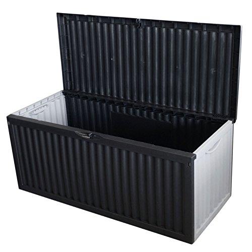 Kunststoff Auflagenbox 350 Liter, 120x52xH54cm, Anthrazit, Gartenbox Gartentruhe Kissenbox für Polsterauflagen