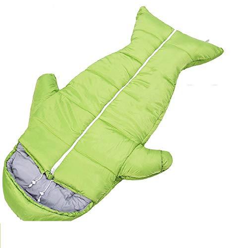 DLSM Sacos de Dormir al Aire Libre para niños Grandes en otoño e Invierno, Sacos de Dormir de algodón Acolchados Gruesos y Resistentes a Las Patadas para Estudiantes de Primaria y Secundaria-Secc