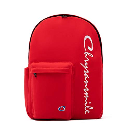 Canvas Backpack for Women Casual Girls School College Bookbag Travel Daypack 156 Inch Laptop Backpacks Red