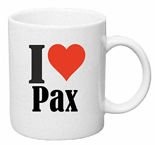 Bandenmarkt koffiemok I Love Pax keramiek hoogte 9,5 cm ? 8 cm in wit