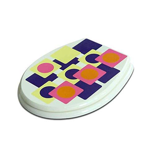 Toiletbril met antibacterieel MDF niet langzame stille ultra resistent onderaan gemonteerd O vorm toiletdeksel voor volwassenen toiletbril, E-420-460 * 366mm