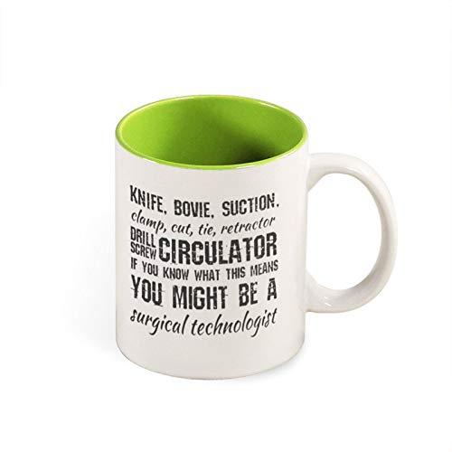 Taza de café quirúrgico, técnica quirúrgica Surg Tech Scrub Tech quirúrgico, regalo quirúrgico, taza de café tecnológico, taza de café divertida de 12 onzas, mg10644