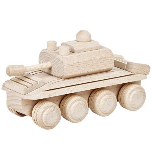 Aldecor Panzerwagen Holz Auto Spielzeug Panzer Armee Holzpanzer Holzauto