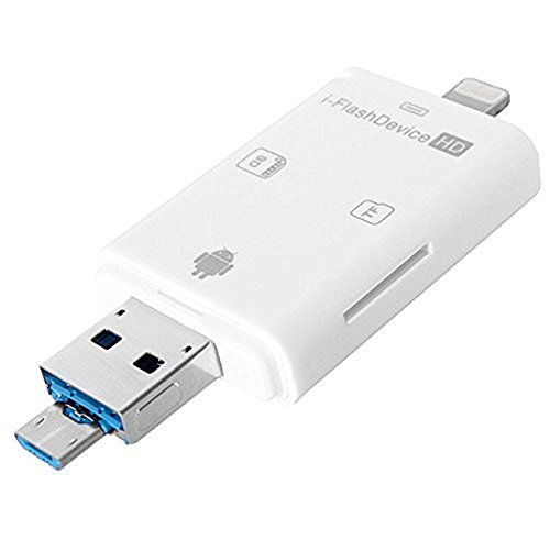 Tenlacum 3 in 1 USB Flash Drive TF Karte iReader iDrive iFlash Treiber OTG Micro USB/SD/TF Kartenleser Adapter für Mac & PC Android Samsung iPhone x / 8/7 / 6Plus / 5S / 5G / 5C iPad