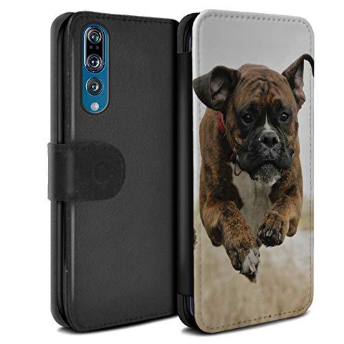 eSwish beschermhoes van PU-leer voor Huawei P20 Pro/serie: rassen/hond, populaire boxershorts