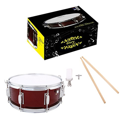 Glory Snare Drum With Sticks, and Strap, for Beginners and Students, Red Color- Click to Choose More Colors