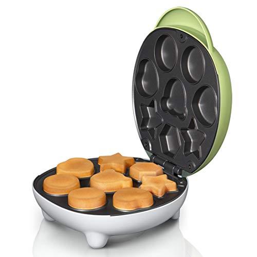 LTLWSH Máquina para Hacer Cupcakes, Cake Pop Maker, diseño de Dibujos Animados, Control Termostático de Doble CRA Mango Fresco con Indicador