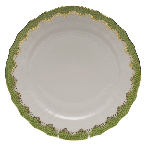 Herend Fish Scale Light Green Porcelain Service Plate