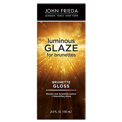 John Frieda Brilliant Brunette Luminous Glaze, 6.5 Ounce Colour Enhancing Glaze, Designed to Fill Damaged Areas for Smooth, Glossy Brown Color