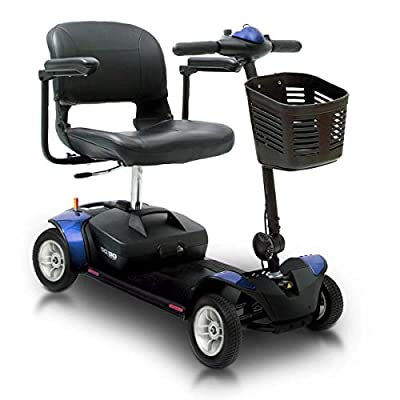 Pride Mobility Go-Go Elite Traveller - Compact Travel Mobility Scooter - Feather-Touch Disassembly - Portable Scooter for Adults