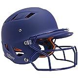 Schutt Sports Senior (Varsity) AiR 4.2 Softball Batter's Helmet with Faceguard, Royal Matte Clear