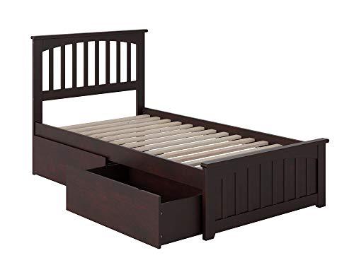 Atlantic Furniture Mission Bed, Twin, Espresso