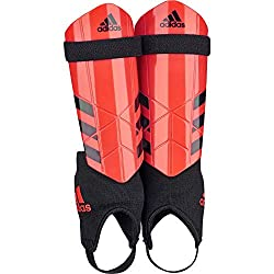 adidas Kids Ghost Shin Guards, Black / Solar red, M