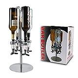Pera - Dispensador giratorio de licor con 4 botellas, dispensador de alcohol y carrusel de mesa, dispensador de cerveza para botellas de licor, bebidas y...