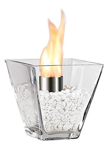 Carlo Milano Deko Tischfeuer: Glas-Dekofeuer Agadir für Bio-Ethanol (Tischkamine)