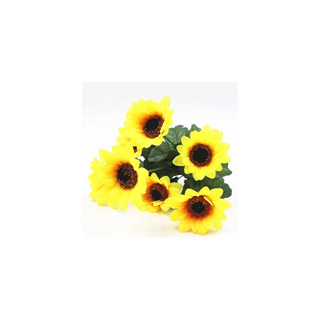 Iulove Fake Sunflowers Silk Flowers Table Centerpieces Arrangements Home Indoor