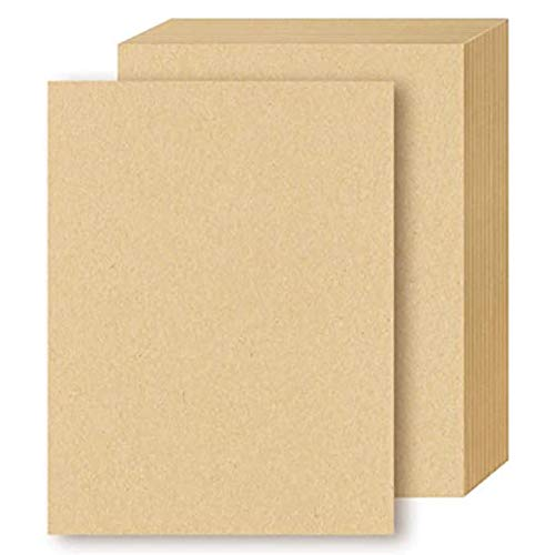 HNJKJEU 100 Fogli di Carta Kraft, cartoncino DIN A4, 120 g/m² cartoncino Kraft Naturale per Fai da Te Appunti Graffiti Ufficio Stampante e DIY Artigianale