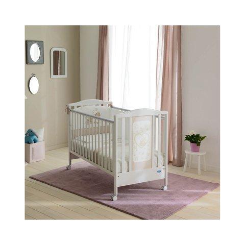 Lit à barreaux en bois pour bébé Belle Pali Bianco