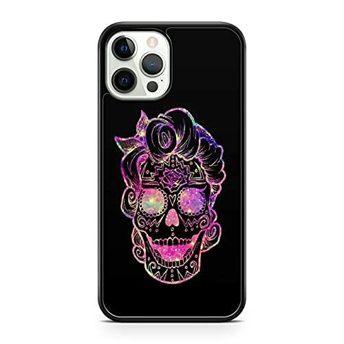 Colorido patrón cubierto sonriendo feliz galáctico espacio cráneo teléfono caso cubierta (modelo de teléfono: honor 9X)