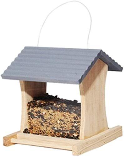 Wild Bird Feeder Wetter Country House Design for eine einfache Reinigung Refills Große Premier Bird Feeder Traditionelle Holzvogel Tabelle Freistehende hängende Dekoration for Außenterrasse ccgdgft