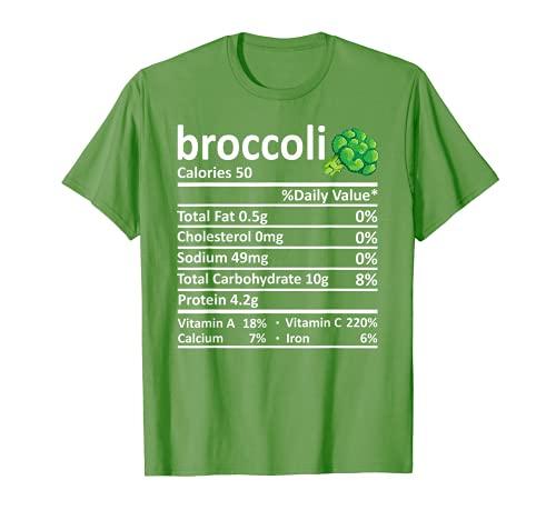 Brcoli Nutricin Informacin Alimentaria Disfraz de Accin de Gracias Navidad Camiseta