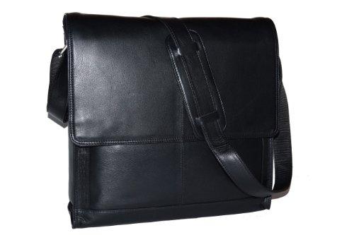 Yale - Messengertas voor mappen en notebooks by LEAS in echt rund-nappaleder, zwart - LEAS Classic Bags