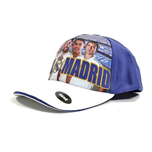 Real Madrid CF Offizielle Kind-Baseball Cap mit Spielerportraits (Einheitsgröße) (Mehrfarbig)