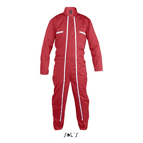 SOL´S ProWear - Workwear Overall Jupiter Pro M (42/44),Red