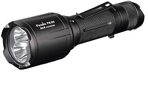 fenix Unisex Adult TK25RB Weisse rote und Blaue LED Taschenlampe, Black, small