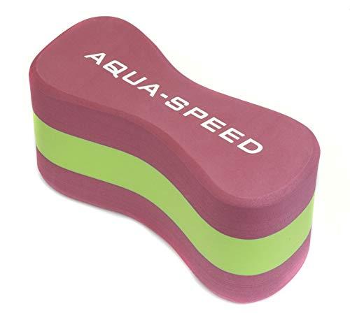Aqua Speed Pull Buoy Trainingshilfe für Kinder & Erwachsene | Pullbuoy Schwimmen Damen Mädchen I Schwimmhilfe Auftriebshilfe I Swimming I Schwimmtraining | Eva-Schaum I Pink-Light Green