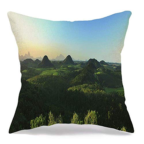Pamela Hill Throw Pillow Covers HIL Panoramic Mountain Do Landscape Photographed Guarapari Santo Animals Wildlife De Sunset Nature 18 x 18 Inch