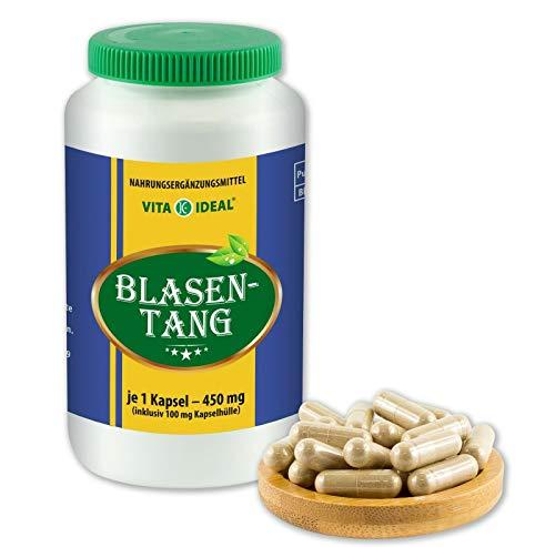 VITAIDEAL ® Blasentang (Fucus vesiculosus) 180 Kapseln je 450mg, aus rein natürlichen Kräutern, ohne Zusatzstoffe von NEZ-Diskounter