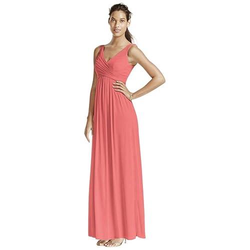 8f31ab7b9c David s Bridal Long Mesh Bridesmaid Dress with Cowl Back Detail Style F15933