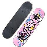 JINGJING 8 Pulgadas Doble Patada Skate Skill Principiante Tabla Larga Arce Tabla de Skate,4