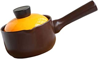 Stockpots Non-stick Cooking Ceramic Cookware Soup Pot whith Lid, Stew Clay Pot Stockpot Earthenware, Baby Food Supplement ...