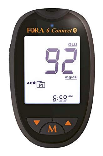FORA6 Connect - Glucometro Multiparametrico Bluetooth - Glicemia, Ematocrito, Emoglobina, Chetoni, Acido...