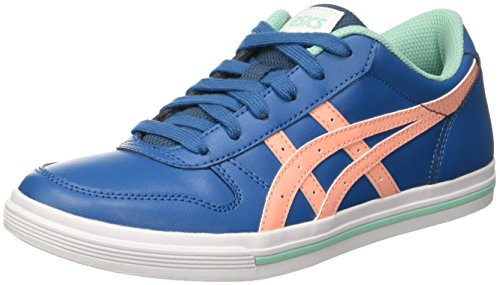 Onitsuka Tiger by ASICS Aaron Gs, Unisex-Kinder Sneakers, Blau (Sea Port/Peach Melba), 39