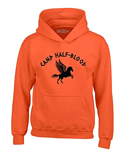 shop4ever Camp Half Blood Hoodie Demigod Hooded Sweatshirt Medium Orange 0