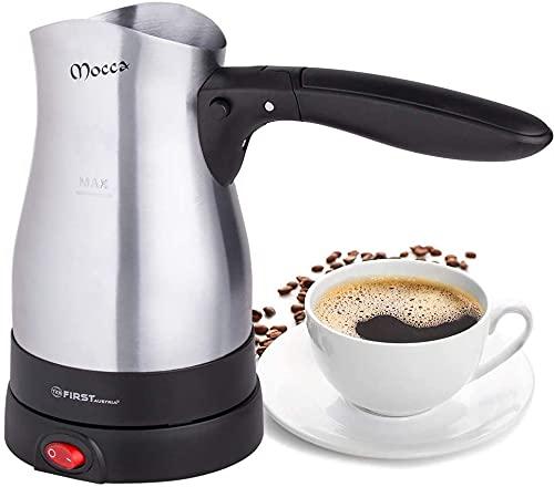 TZS First Austria - 0,40 Liter Elektrischer Türkischer Kaffeekocher 800W Mokkakocher Espressokocher