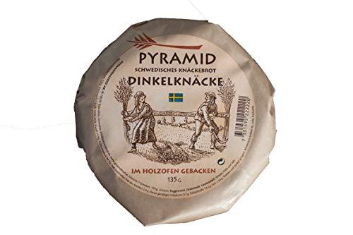 Pyramid schwedisches Dinkel-Knäckebrot, im Holzofen gebacken, 6er Pack (6 x 135 g)