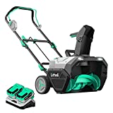 LiTHELi 2X20V(40V) Cordless Brushless Snow Blower 20 Inch,Electric Snow Thrower Kit with 2x4.0 Ah Batteries & Charger