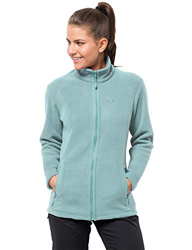 Jack Wolfskin Damen Midnight Moon Women Fleecejacke, Green Haze, M