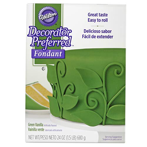 Wilton Decorator Preferred Green Fondant, 24 oz. Fondant Icing