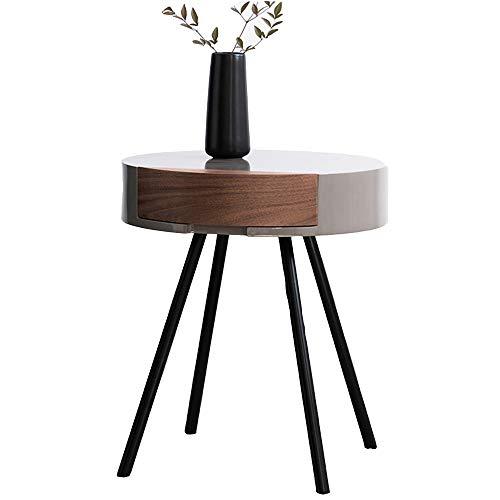 YNN Table Page d'accueil Table de Coin créatif Simplicité Moderne Petite Table Ronde Table de Chevet Salon Table d'appoint de canapé Table d'appoint de Cabinet