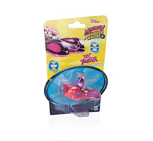 IMC Toys- Minnie Mouse Mini Vehículos: Figurina Pink Thunder, Color Rosa y Morado (183773)