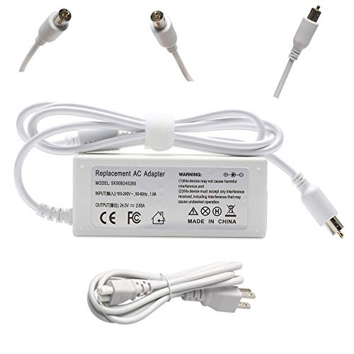 65W 24.5V 2.65A Replacement Ac Laptop Adapter Charger for Apple Powerbook iBookG4, iBook,G4 Series,15.2-inch with Size 7.7mmX2.5mm