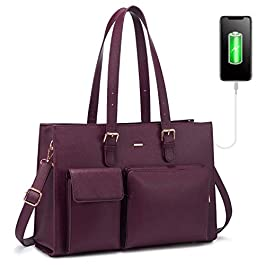 LOVEVOOK sac a main femmes cuir sac cabas femme sac ordinateur 15.6 pouces sac de cours lycée fille sac fourre tout sac…